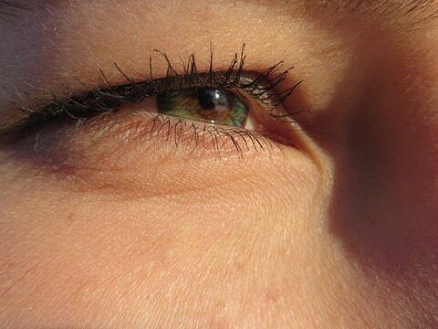 Augen und Stress